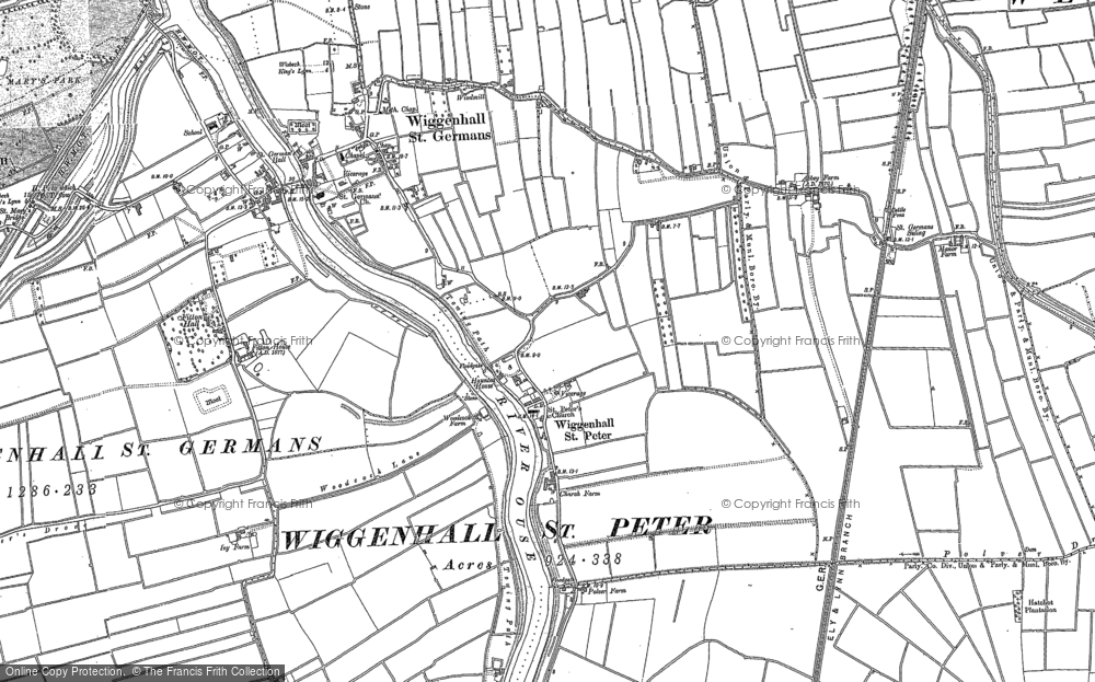 Old Map of Wiggenhall St Peter, 1884 - 1886 in 1884