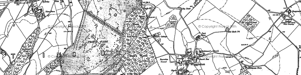 Old map of Wigginton Bottom in 1896