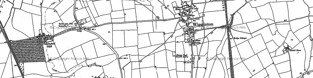 Old map of Wigginton in 1900