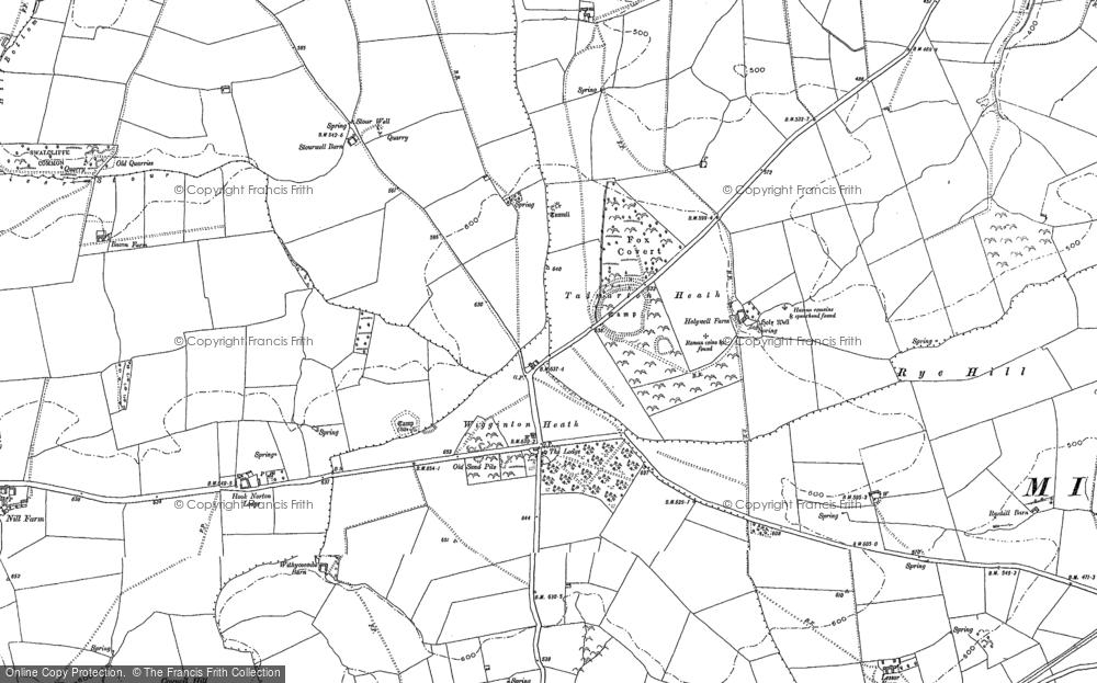 Old Map of Wigginton Heath, 1898 - 1899 in 1898