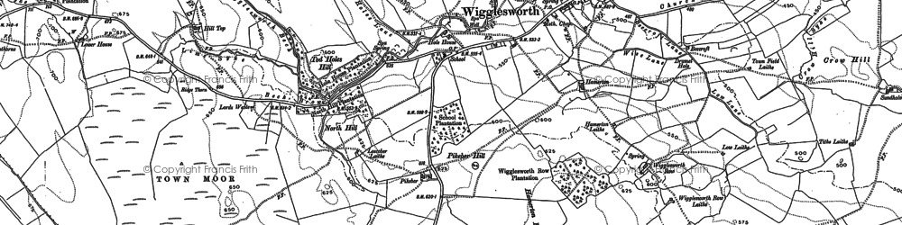 Old map of Wigglesworth in 1907
