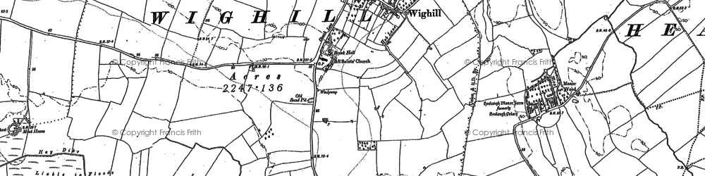 Old map of Wighill in 1891