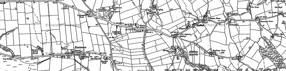 Old map of Wigley in 1876