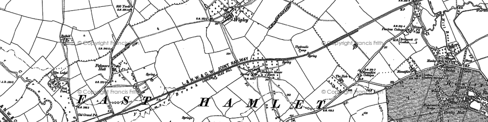 Old map of Wigley in 1883
