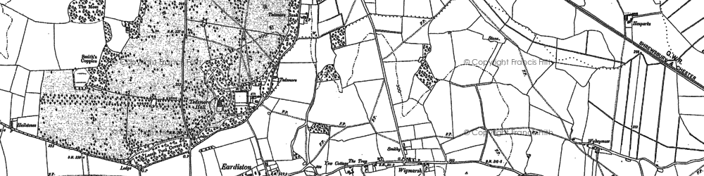 Old map of Wykeymoss in 1875