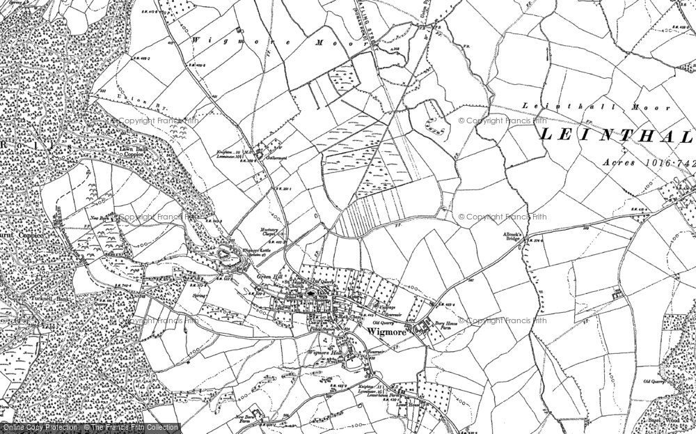 Old Map of Wigmore, 1885 - 1902 in 1885