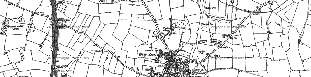 Old map of Wigston in 1885