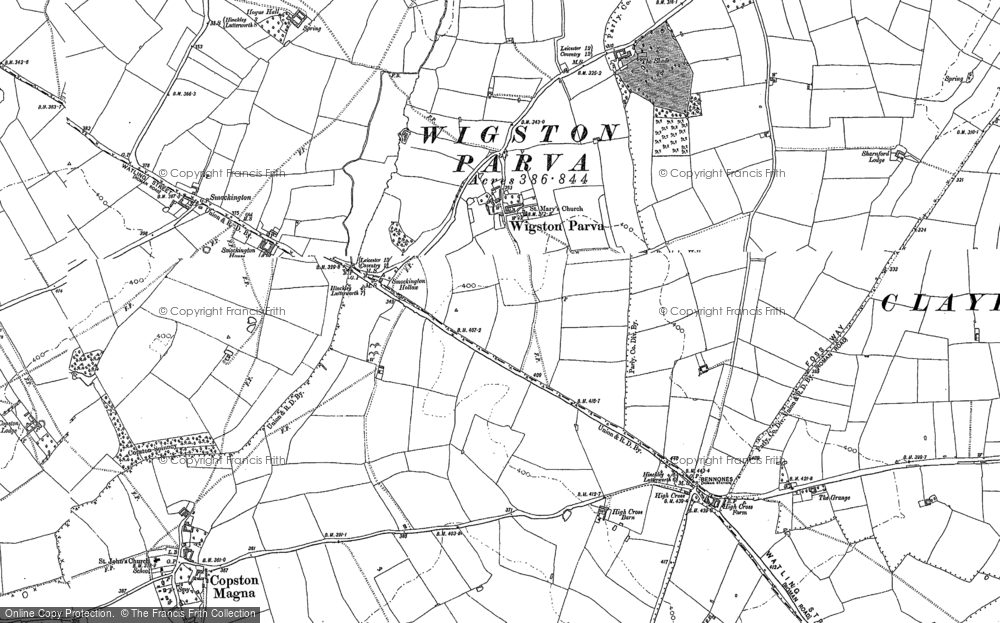 Old Map of Historic Map covering Leicestershire Round, The in 1901