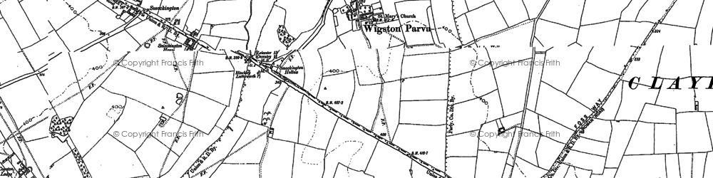 Old map of Leicestershire Round, The in 1901