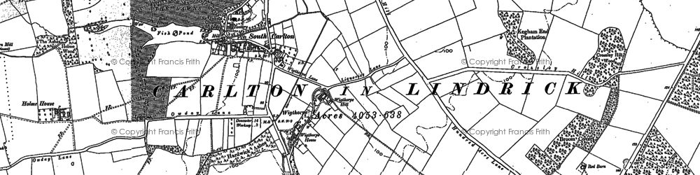 Old map of Wigthorpe in 1897