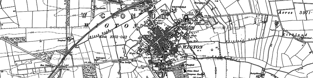 Old map of Wigton in 1899