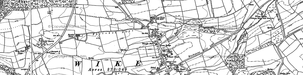 Old map of Wike Whin in 1892