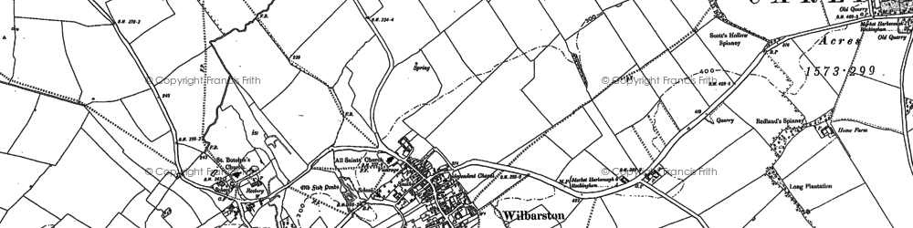Old map of Wilbarston in 1899