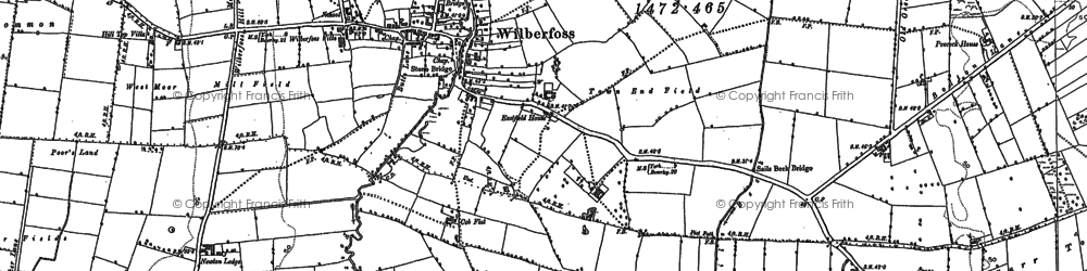 Old map of Wilberfoss in 1891