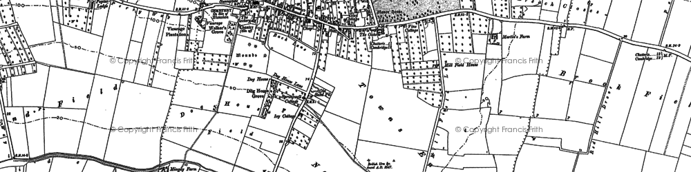 Old map of Wilburton in 1887