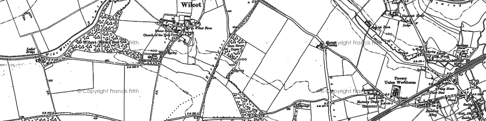 Old map of Wilcot in 1899