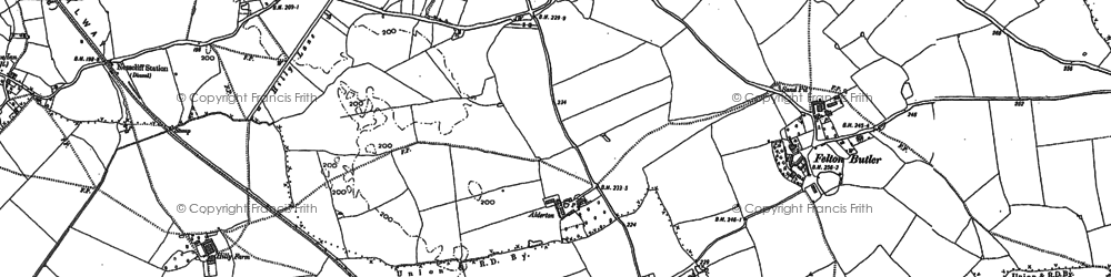 Old map of Alderton Hall in 1881
