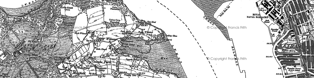 Old map of Wilcove in 1883