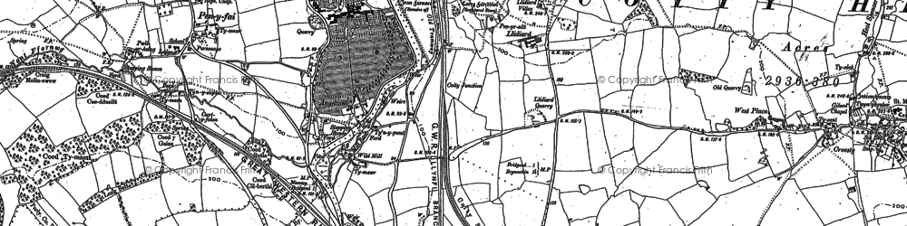 Old map of Wild Mill in 1897