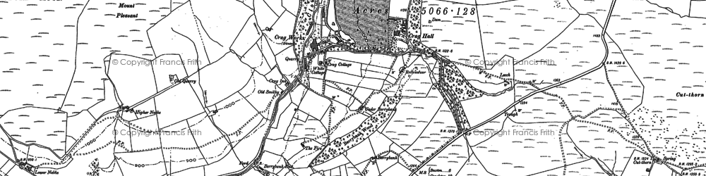 Old map of Wildboarclough in 1907