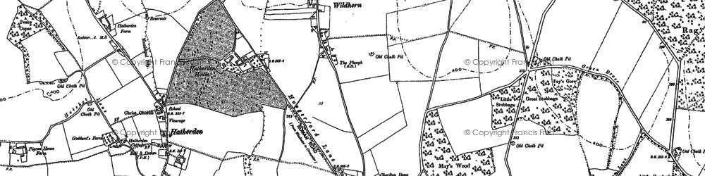 Old map of Wildhern in 1894