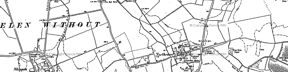 Old map of Wildmoor in 1898