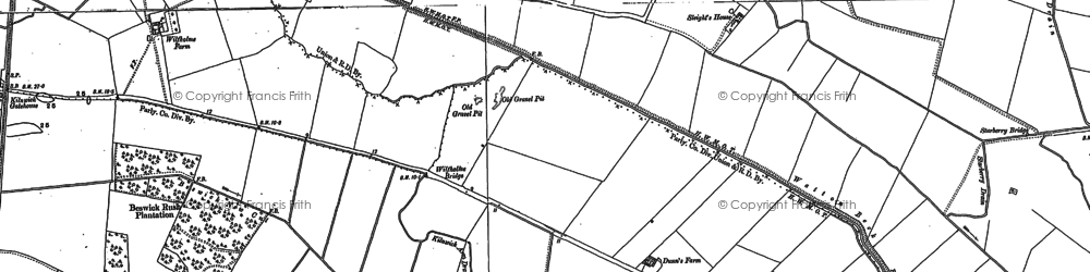 Old map of Wilfholme in 1890