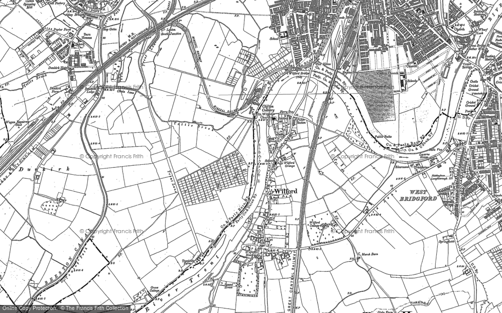 Old Map of Wilford, 1881 - 1883 in 1881
