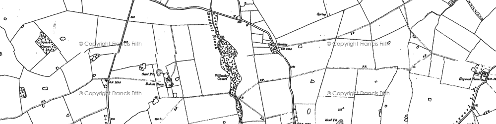 Old map of Wilkesley in 1908