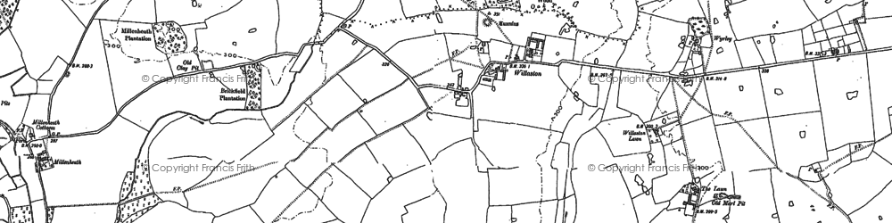 Old map of Willaston in 1879