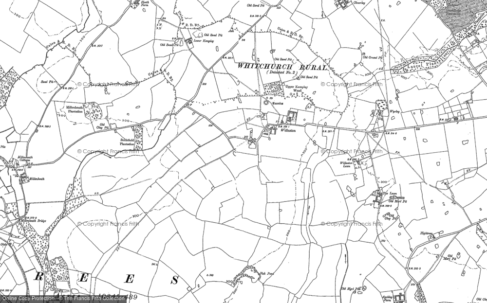 Old Map of Historic Map covering Lawn Cottage in 1879