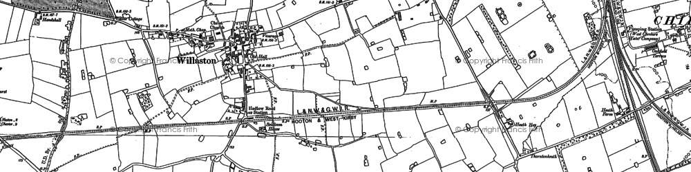 Old map of Willaston in 1897