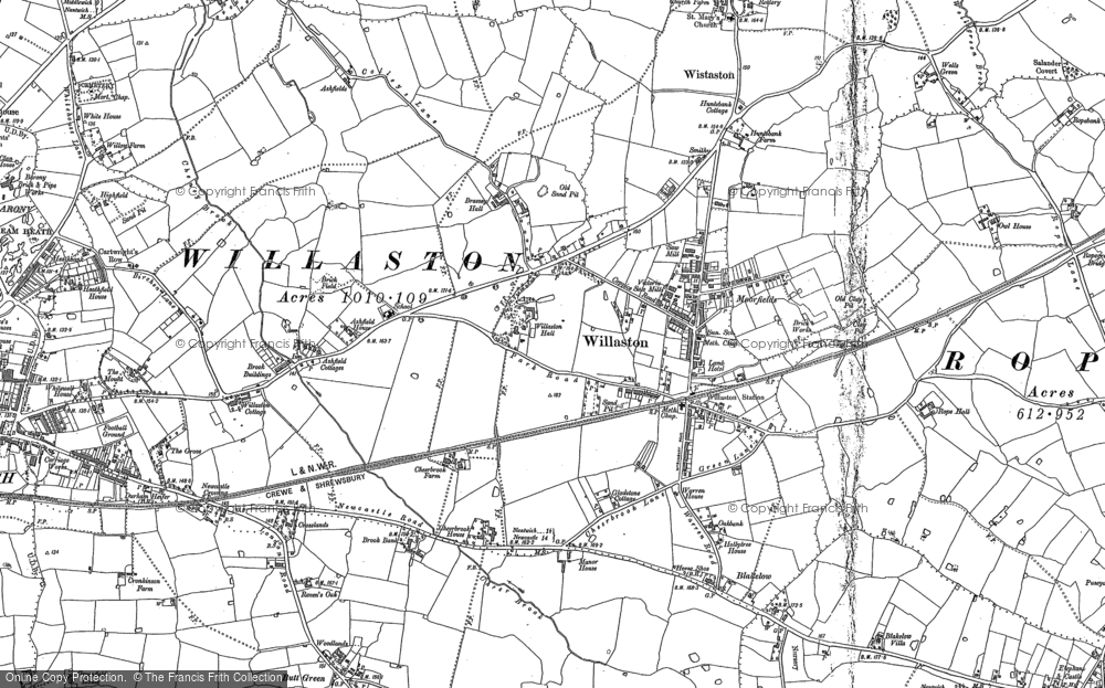 Old Map of Willaston, 1897 in 1897