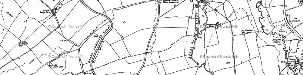 Old map of Willen Park in 1924