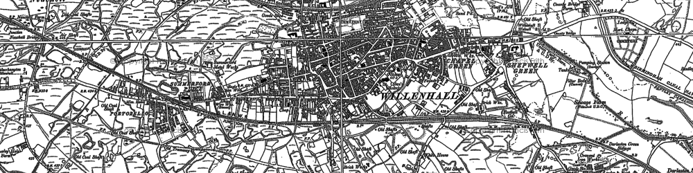 Old map of Willenhall in 1885