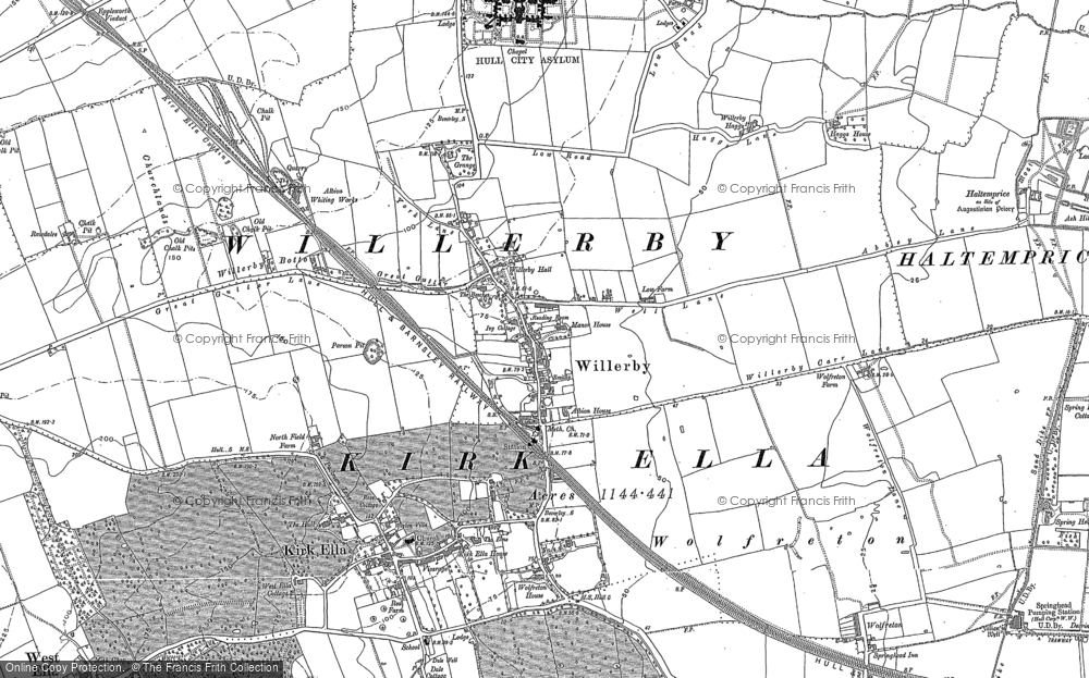Old Map of Willerby, 1888 - 1908 in 1888