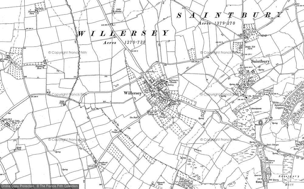 Old Map of Willersey, 1880 - 1900 in 1880