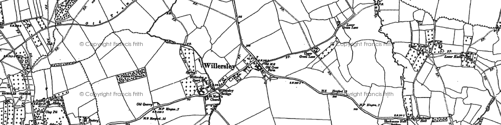 Old map of Willersley in 1886