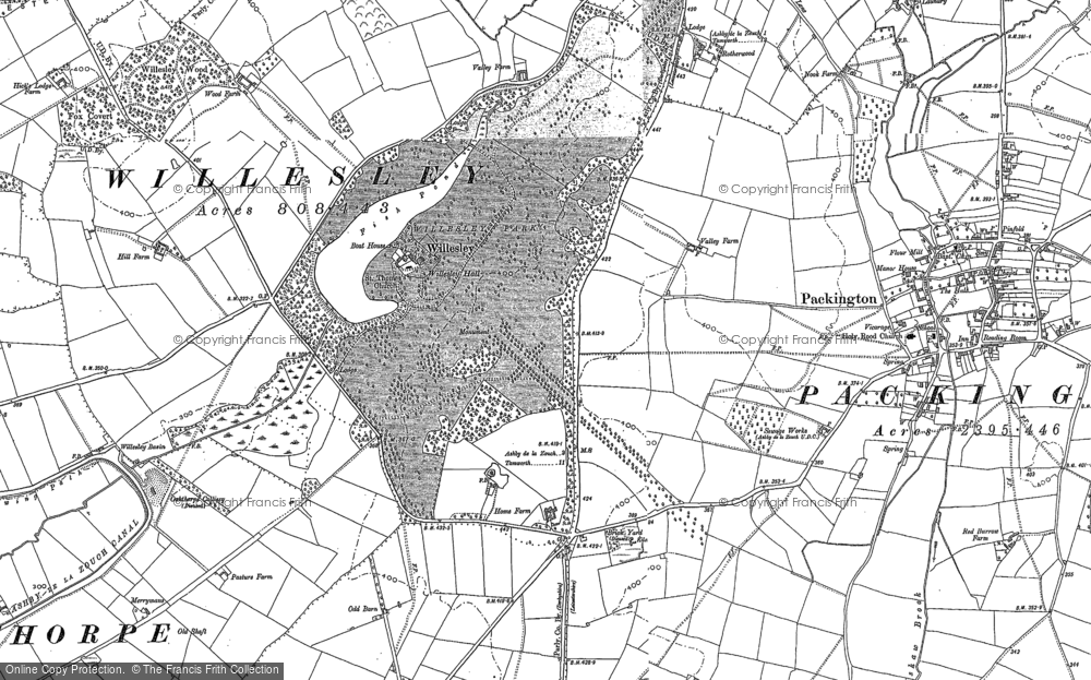 Old Map of Willesley, 1882 - 1901 in 1882