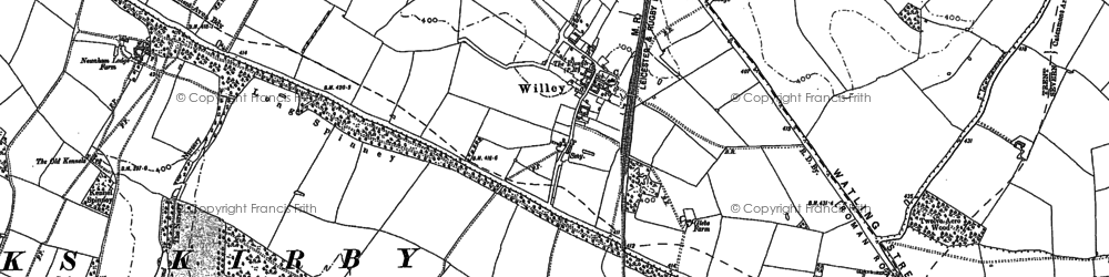 Old map of Willey in 1901