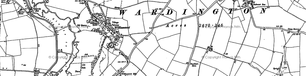 Old map of Williamscot Ho in 1899
