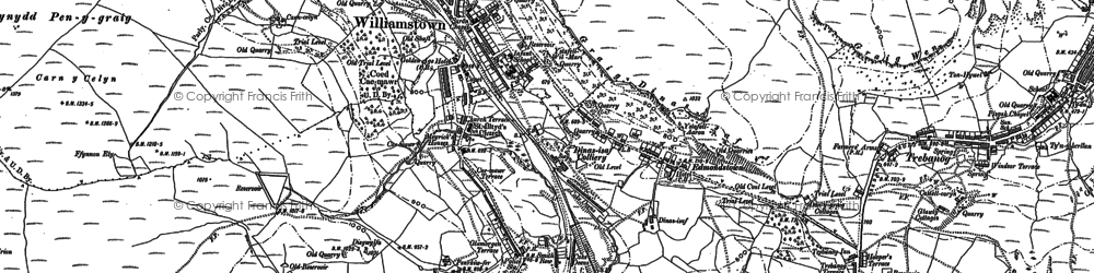 Old map of Williamstown in 1898