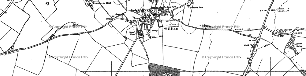 Old map of Willian in 1896