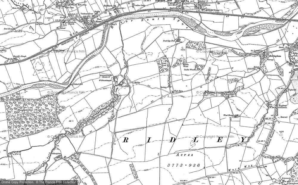 Old Map of Historic Map covering Allensgreen in 1895