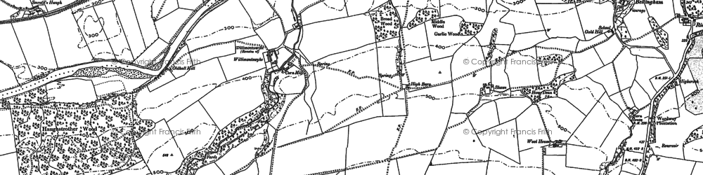Old map of Allensgreen in 1895
