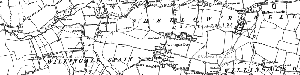 Old map of Witney Green in 1895