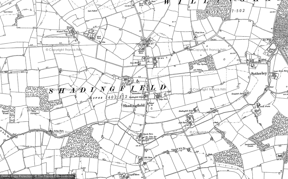 Old Map of Historic Map covering Likely Wood in 1883