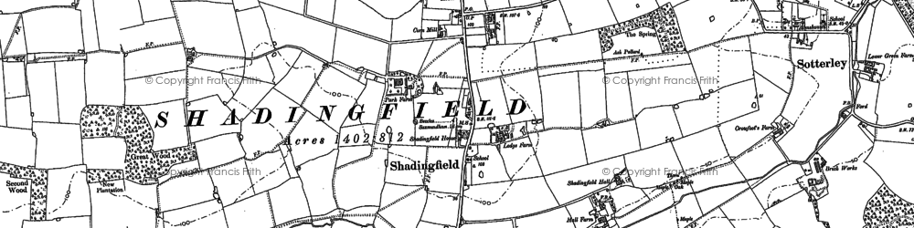 Old map of Willingham in 1883