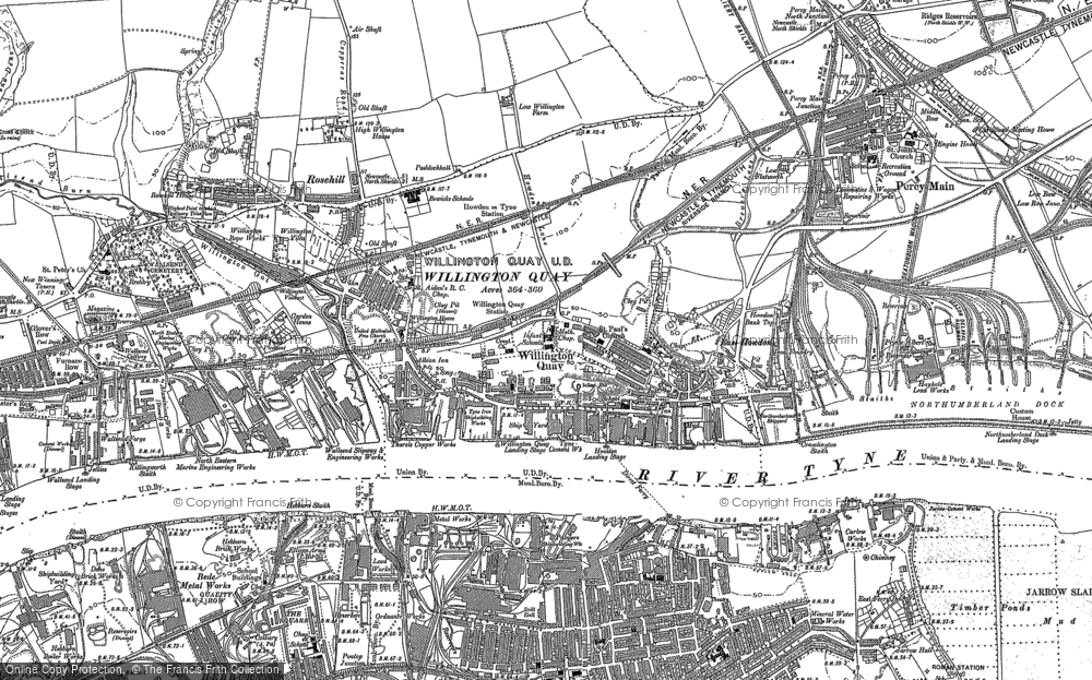 Map of Willington Quay, 1895 - 1920