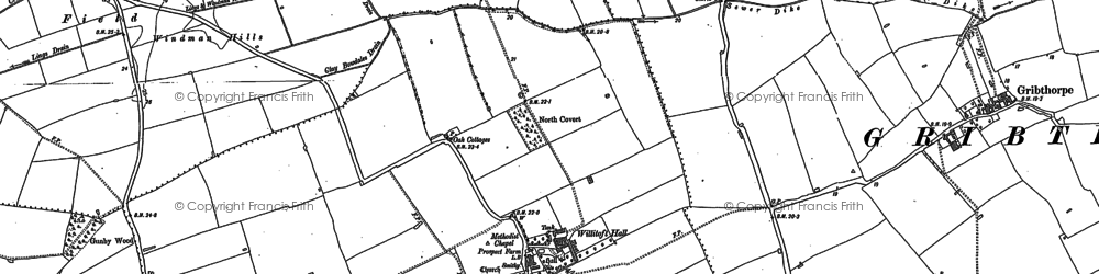Old map of Willitoft in 1889